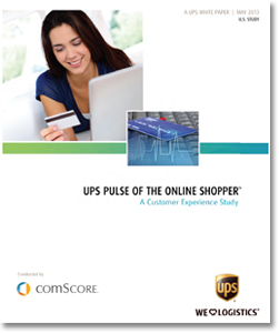 2013 UPS Online Shopping Customer-Experience Study White Paper cover