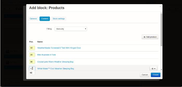 CS-Cart αλλάξετε τη σειρά των προϊόντων, κατηγοριων, σελίδων και δημοσκοπήσεων